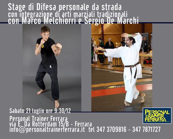 Stage di difesa personale a Ferrara